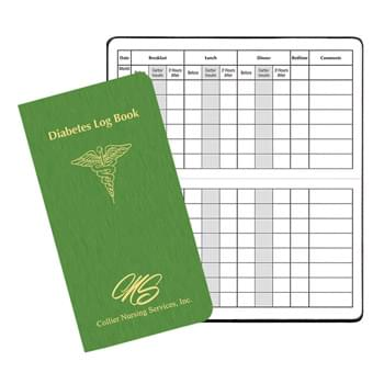 Diabetes Log Book w/ Shimmer Cover