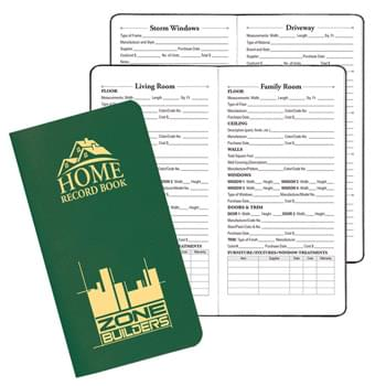 Home Record Book w/ Leatherette Cover